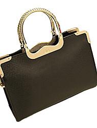 cheap -Weixiaohudie Elegant Retro Tote Crossbody Bag (Black)