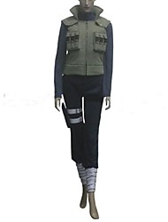 abordables -Inspirado por Naruto Hinata Hyuga Animé Disfraces de cosplay Trajes Cosplay Retazos Manga Larga Vendaje Chalecos Top Pantalones Bolsillo