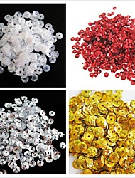 cheap -350PCS Light Circle Sequin 6mm Handmade DIY Craft Material/Clothing Accessories(Assorted Color)