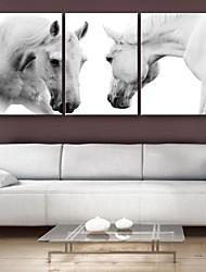 billige -Dyr Klassisk Traditionel, Tre Paneler Vertikal Print Vægdekor Hjem Dekoration
