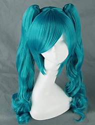 cheap -Cosplay Wigs Vocaloid Hatsune Miku Anime/ Video Games Cosplay Wigs 75 CM Heat Resistant Fiber Female