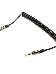 1m de áudio 3,28 pés 3,5 milímetros macho para cabo de áudio de 3,5 mm extense masculino para o telefone móvel e aux carro