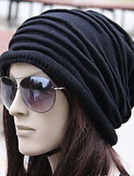 Unisex Korean Style Folding Knitting Wool Cap