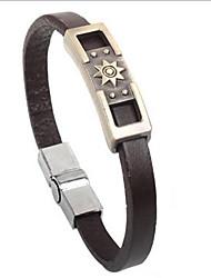 Punk Style Sun Symbol Alloy Leather Bracelet(1 Pc) Christmas Gifts
