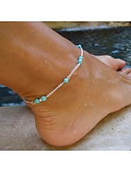 cheap -Women's Turquoise Anklet - Silver Bracelet For Party Daily Casual