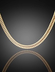 Never Fade Jack Men's 24K Real Gold Plated Figaro Sparsely Flat Link Chains Necklace High Quality for Men 6MM 75CM