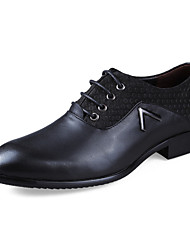 cheap -Men's Shoes Leather Spring Fall Comfort Oxfords for Casual Tan Black Brown