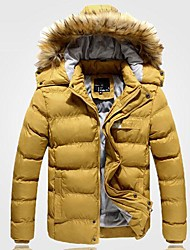 billige -mænds hætteklædte afslappet bomuld frakke