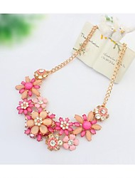 Women's Statement Necklaces Flower Alloy Basic European Statement Jewelry Bohemian Costume Jewelry Floral Jewelry For Wedding Party