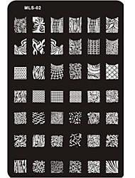 Недорогие -новых конструкций ногтей штамповки изображение пластины ногтя шаблон искусство ногтей трафарет № 2