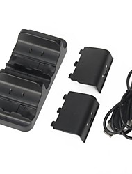 cheap -Dual Charger Dock Station + 2 Battery for Microsoft Xbox One Wireless Controller