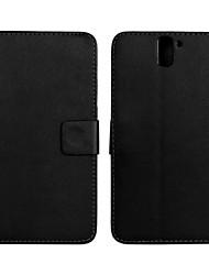 お買い得  -ケース 用途 OnePlus OnePlusケース ウォレット / カードホルダー / スタンド付き フルボディーケース ソリッド ハード PUレザー のために