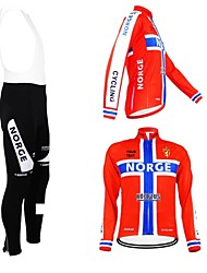 Kooplus Maglia con salopette lunga da ciclismo Per donna Per uomo Unisex Maniche lunghe BiciclettaMaglietta/Maglia