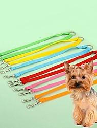 baratos -Gato Cachorro Trelas Retratável Fantasias Náilon Amarelo Vermelho Verde Azul Rosa claro