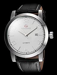 FORSINING Pánské Hodinky k šatům mechanické hodinky Automatické natahování Kalendář Kůže Kapela Luxusní Minimalistické Černá