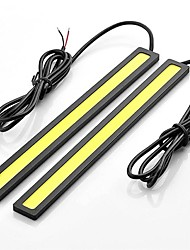 cheap -2pcs 17cm 6W 600-700LM Daytime Running light Yellow Color High Power COB DRL Waterproof IP68 Daylight(12V)
