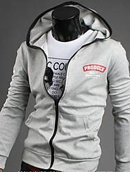 abordables -Pull à Capuche & Sweat-shirt ( Polyester ) Tous les jours - Pur à Manches longues pour Pour des hommes