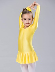 Ballet Dresses Women's Children's Spandex 1 Piece Long Sleeve Dress
