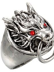 Недорогие -Кольца Повседневные Бижутерия Титановая сталь Массивные кольца8 Серебряный