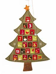Недорогие -Изысканный ручной работы новогодняя елка календарь белье стена кулон Рождественские украшения (1 шт)