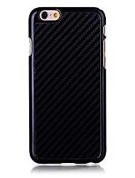 Недорогие -Кейс для Назначение Apple iPhone 6 Plus / iPhone 6 Кейс на заднюю панель Однотонный Твердый Углеродное волокно для iPhone 6s Plus / iPhone 6s / iPhone 6 Plus