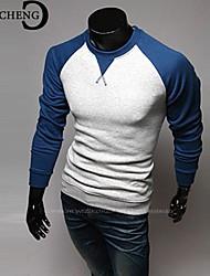 billige -Herre - Farveblok Plusstørrelser T-shirt