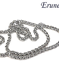 cheap -Men's Long Chain Necklace - Silver Necklace For Daily