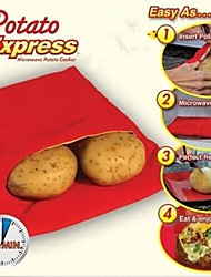 cheap -New High Quality Practical Fast Easy Red Potato Washable Microwave Bag Steam Pocket Bake Potato in 4 Minutes