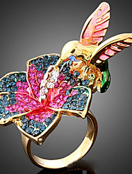 cheap -Women's Cubic Zirconia Statement Ring - Bird Animal Fashion For Party