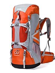 abordables -70L Sacs à Dos / Sac à Dos de Randonnée - Etanche, Vestimentaire, Multifonctionnel Camping / Randonnée, Ski, Escalade Nylon Orange,