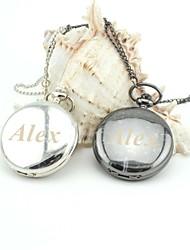 Недорогие -персонализированные ретро гладкой карманные часы эмаль металлические ремешки