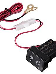 abordables -3.1a 12 / 24v ports usb double tableau de bord monter adaptateur chargeur de voiture