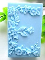 quadrado amor- e flor em forma molde do bolo fondant de chocolate silicone
