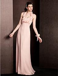 hesapli -lan ting bride® ile kılıf / kolon oyuğu döşeme uzunluğu ipek nedime elbisesi