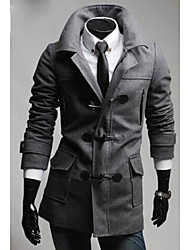 cheap -Men's Chic & Modern Coat - Solid Colored, Modern Style