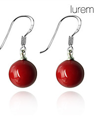 cheap -Women's Pearl Sterling Silver Drop Earrings - Red Earrings For Daily