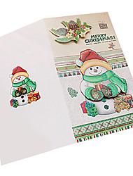 Недорогие -стерео сложить рождественская открытка (8шт)