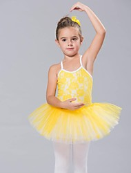 cheap -Kids' Dancewear Tops Dresses&Skirts Tutus Children's Spandex Lace Tulle Sleeveless
