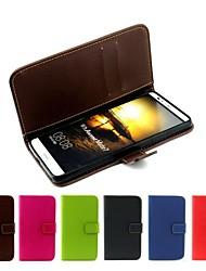 billige -Etui Til Huawei / Huawei Mate 7 Etui Huawei Lommebok / Kortholder / Flipp Heldekkende etui Ensfarget Hard PU Leather til Huawei Mate 7 / Huawei