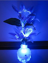 cheap -Colorful Flowers Vase Optical Fiber Flowers LED Nigth Light