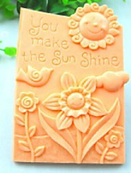 cheap -You Make The Sun Shine Bird Flower Fondant Cake Chocolate Silicone Mold Cake Decoration Tools,L10.6cm*W8.1cm*H3cm