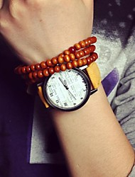 cheap -Women's Wrist Watch Hot Sale Leather Band Charm / Fashion Black / White / Blue