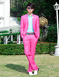 Pink Polyester Slim Fit Two-Piece Tuxedo