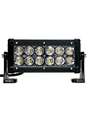 36W(12*3W CREE) 2880LM 6500K 7inch Car LED Work Light Bar Flood Lamp for Off-road SUV Truck(DC9-32V)