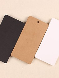 cheap -High Quality Kraft Paper Hang Tags Lables for Bookmark Gift Bakery Packaging Favors Wedding Party Price Cards(Set of 50)