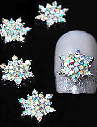 cheap -10pcs   3D Colorfull Rhinestone Flower DIY Alloy  Accessories Nail Art Decoration