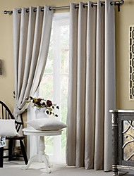 cheap -Rod Pocket Grommet Top Tab Top Double Pleat Pencil Pleat Two Panels Curtain European Country Modern Neoclassical Mediterranean , Print &