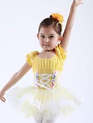 billige -Dansetøj til børn / Ballet Kjoler & Nederdele / Tutus Bomuld / Tyl Kort Ærme / Opvisning