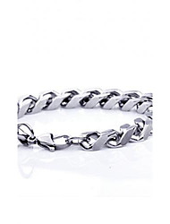 Z&X®  High Quality 0.5cm Thickness 1.1cm Width Contracted Titanium Steel Men's Chain Bracelet