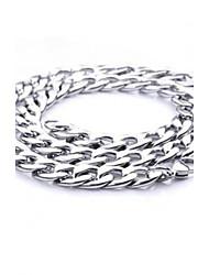 z&colar de corrente X® dos homens de aço largura 1,1 centímetros de titânio estilo europeu